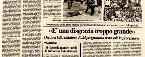 Rapallo: orrore sulla sagra [il secolo XIX]