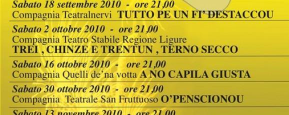 TREI , CHINZE E TRENTUN, TERNO SECCO – 7a Rassegna Teatrale in Genovese