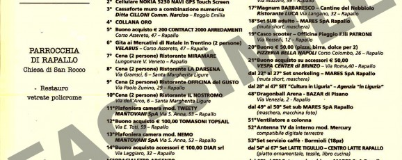 Estrazione e premi della lotteria di San Rocco 2010