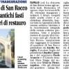 La chiesetta di San Rocco torna agli antichi fausti