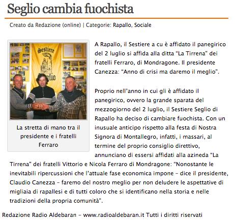 Radio Aldebaran - Seglio cambia fuochista 19-03-2013