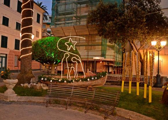 Luminarie Natalizie dai giardini Ezra Pound